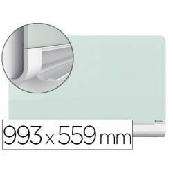 Pizarra Blanca Nobo Diamond Cristal Templado Magnetica 99,3x55,9 cm