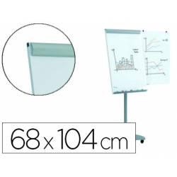 Pizarra Blanca Metalica Magnetica con ruedas incluye 2 brazos laterales 68x104
