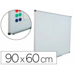 Pizarra Blanca Rocada Acero Vitrificado Magnética marco aluminio 60x90 cm