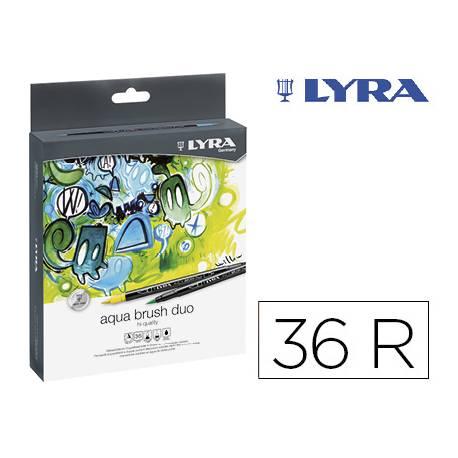 Rotulador Lyra Duo Art Pen Doble punta fina y punta pincel Caja de 36 unidades