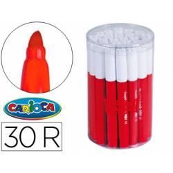 Rotulador Carioca Jumbo grueso caja de 30 rotuladores rojos