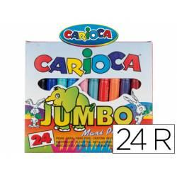 Rotulador Carioca Jumbo grueso lavable caja de 24 rotuladores
