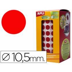Gomets Apli circulares rojos 10,5mm