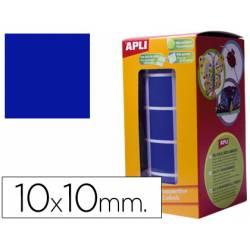 Gomets Apli cuadrados azules 10x10mm