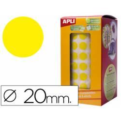 Gomets Apli circulares amarillos 20mm