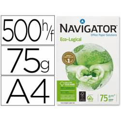 Papel multifuncion A4 eco-logical Navigator 75 g/m2