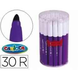Rotulador Carioca Jumbo grueso caja de 30 rotuladores violetas