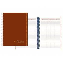 Libro de reservas. Tapa Carton.80 hojas Din A4