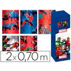Papel fantasia infantil Marvel Rollo de 2X0,70 mt