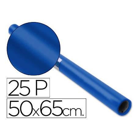 Papel charol Sadipal rollo color azul cobalto 25 hojas