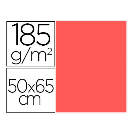 Cartulina Gvarro Coral 50x65 cm 185 gr
