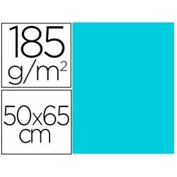 Cartulina Gvarro Azul Caribe 50x65 cm 185 gr