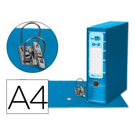Archivador de palanca Liderpapel Filing System con caja A4 Lomo 80 mm Celeste