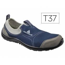 Zapatos de seguridad marca Deltaplus poliester talla 37