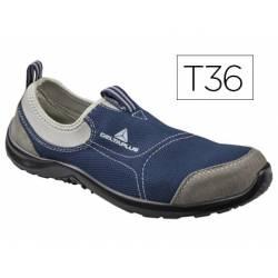 Zapatos de seguridad marca Deltaplus poliester talla 36