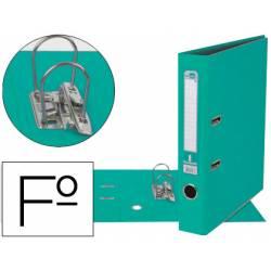 Archivador de palanca Liderpapel folio color verde claro compresor