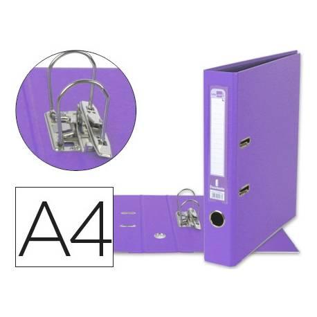 Archivador de palanca Liderpapel A4 lila compresor metalico