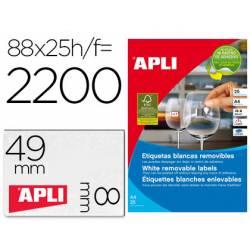 Etiqueta adhesiva Apli removible especial joyería caja con 25 unidades