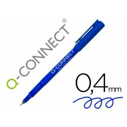 Rotulador Q-Connect punta de fibra color azul trazo 0.4 mm