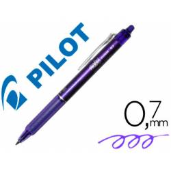 Boligrafo Borrable Pilot Frixion Clicker 0,4 mm color violeta