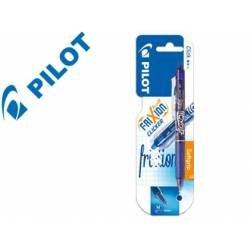 Boligrafo Borrable Pilot Frixion Clicker 0,4 mm color azul claro
