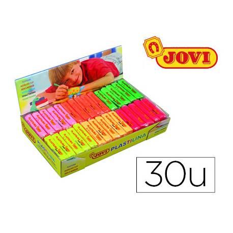 Plastilina Jovi Fluorescentes pequeñas Caja 30 unidades colores surtidos
