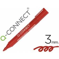 Rotulador Q-Connect punta de fibra permanente 3 mm rojo