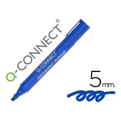 Rotulador Q-Connect punta de fibra permanente azul 5mm
