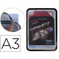 Marco porta anuncios Tarifold magneto A3 negro