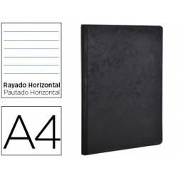 Libreta Clarefontaine negro A4 tapa cartulina rayado horizontal 96 hojas