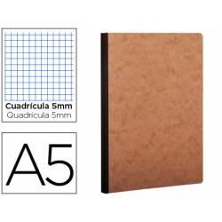 Libreta Clarefontaine A5 tapa cartulina cuadriculado 5mm 96 hojas