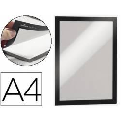 Porta anuncios magnetico adhesivo A4 negro