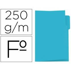 Subcarpeta cartulina azul con pestaña izquierda