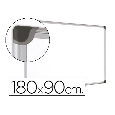 Pizarra Blanca Vitrificada Magnetica marco de aluminio 180x90 Bi-Office