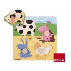 Puzzle a partir de 1 año Animales de la Granja marca Goula