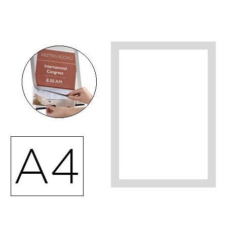 Porta anuncios Q-Connect magnetico Din A4 color plata