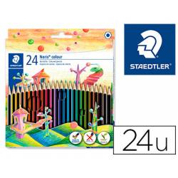 Lapices de 24 colores Staedtler Wopex ecologico