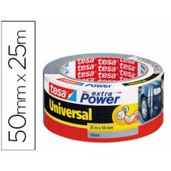 Cinta adhesiva Tesa americana extra power plata