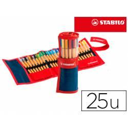Rotulador Stabilo Point 88 Rollerset Estuche 25 Unidades