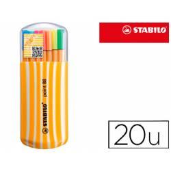 Rotulador Stabilo Point 88 Zebrui Estuche 20 Unidades