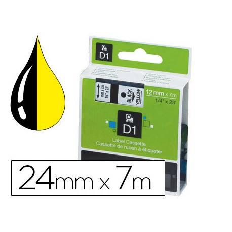 Cinta Dymo consumible rotuladora negro-amarillo D1