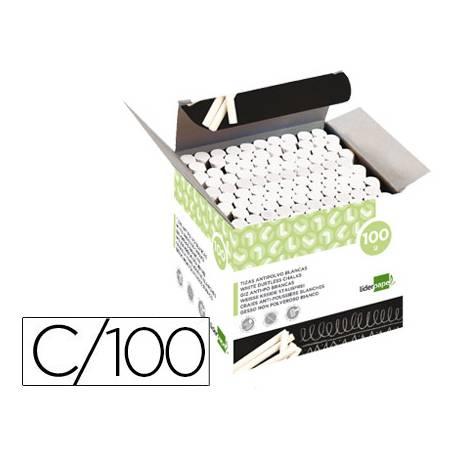 Tiza blanca antipolvo Liderpapel caja 100 unidades