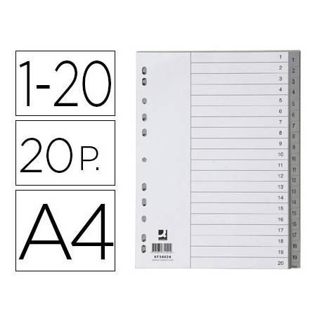 Separador Q-Connect Numerico 1-20 A4