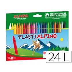 Lapices cera PlastiAlpino 24 unidades colores surtidos
