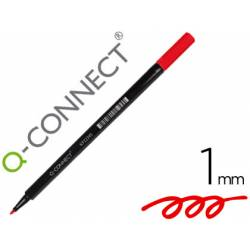 Rotulador Q-Connect punta de fibra redonda 1mm rojo