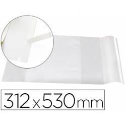 Forralibro Adhesivo Liderpapel con solapa ajustable 312x530 mm
