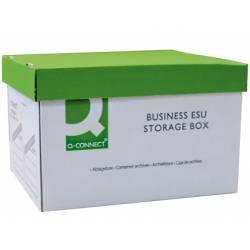 Cajon Q-connect para 3 cajas archivo definitivo A4 automatico