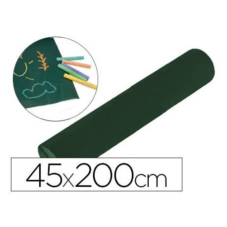 Pizarra Verde Laminada para Tiza Rollo Adhesivo 2x0,45 m Liderpapel