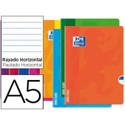 Libreta Escolar Oxford A5 48 hojas Rayado horizontal Colores Surtidos