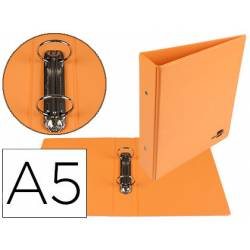 Carpeta 2 Anillas Liderpapel A5 Naranja 40 mm